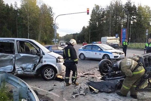 Пять человек пострадали в ДТП под Кингисеппом