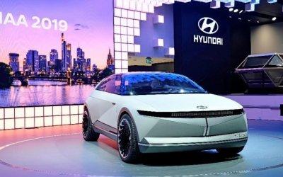 Hyundai Motor представляет электрический концепт-кар «45» на Международном автосалоне во Франкфурте 2019