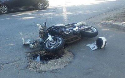Мотоциклист пострадал в ДТП в Курской области