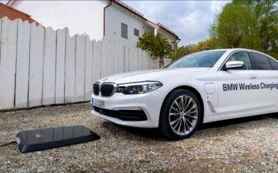 BMW испытывает беспроводную зарядку для гибридомобилей