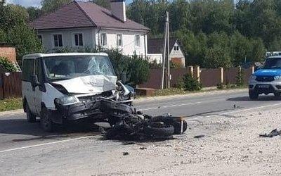 Мотоциклист погиб в ДТП в Тульской области