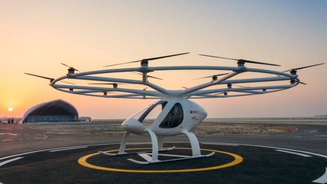 ВСингапуре испытали летающее беспилотное такси