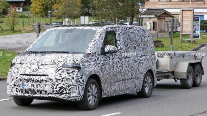 Volkswagen Transporter T7: начались ходовые испытания