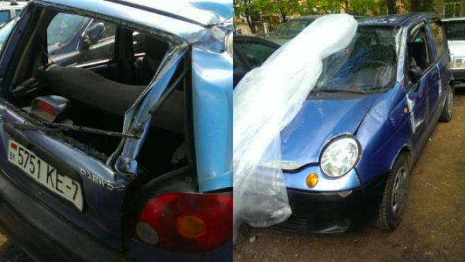 В Минске пьяный помощник мастера угнал с ремонта чужую машину и протаранил 4 автомобиля