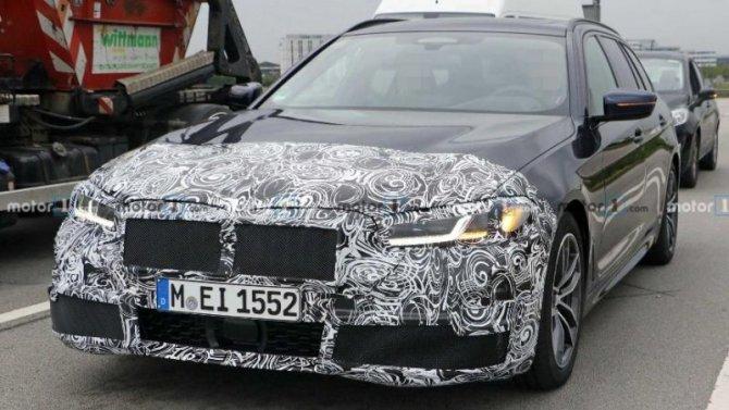 Началось тестирование нового универсала BMW 5-Series