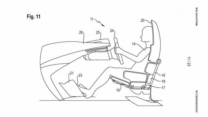 Фирма Porsche запатентовала сиденья для беспилотных автомобилей