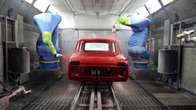 На «АвтоВАЗе» рассказали, как красятся автомобили