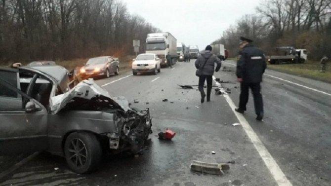 24-летний водитель погиб в ДТП под Курском