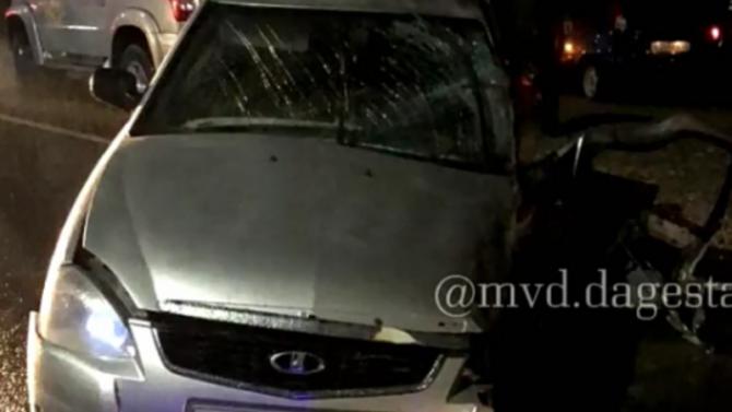 В тройном ДТП в Дагестане погиб человек