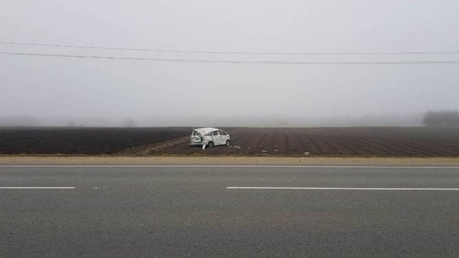 Водитель погиб при опрокидывании машины на Кубани