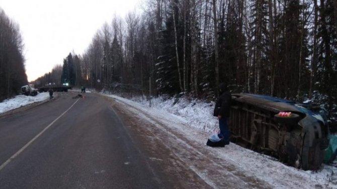 Два человека погибли в ДТП с лесовозом в Кировской области