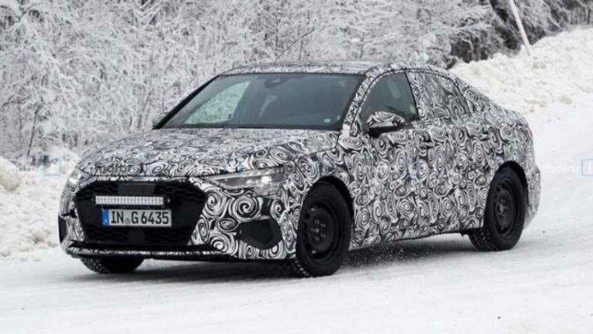 ВШвеции испытывают новый Audi A3