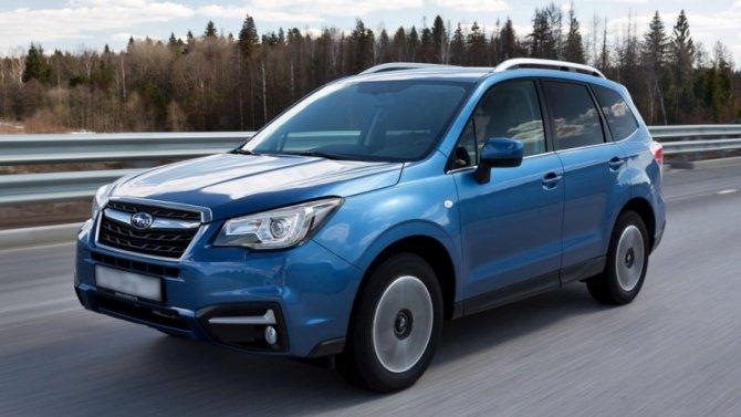 ВРоссии объявлено оботзыве автомобилей Subaru