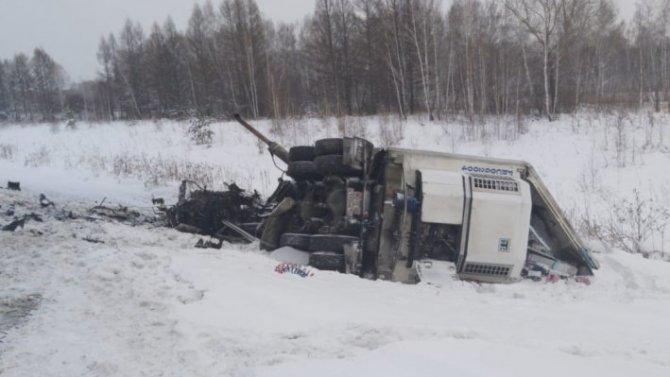 Водитель грузовика погиб в ДТП в Болтнинском районе Новосибирской области