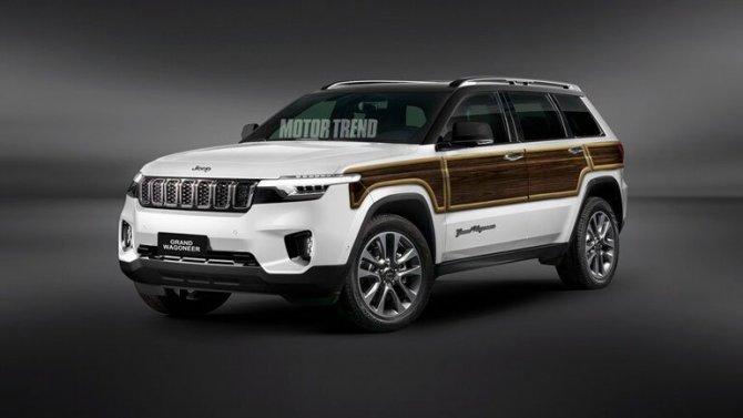 Винтернет выложили снимки нового Jeep Wagoneer