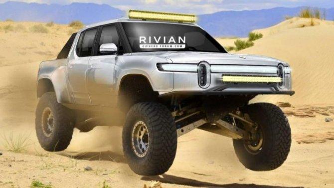 Электропикап Rivian R1T получит гоночную модификацию