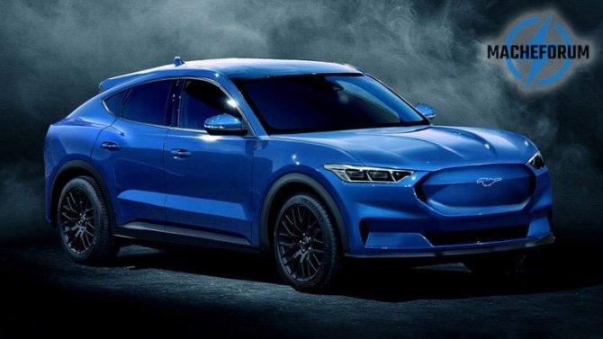 Показано изображение электрокроссовера Ford