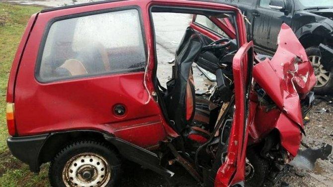 Водитель «Оки» погиб в ДТП в Рязанской области