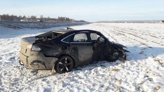 В ДТП в Башкирии погиб пассажир иномарки (5)