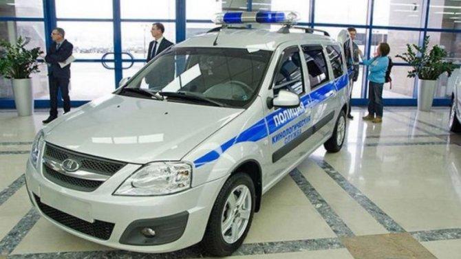 «АвтоВАЗ» представил универсал Lada Largus для полиции