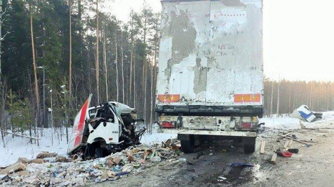 В ДТП с грузовиками в Нефтеюганском районе погиб водитель