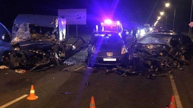 Два человека погибли в массовом ДТП на Кубани