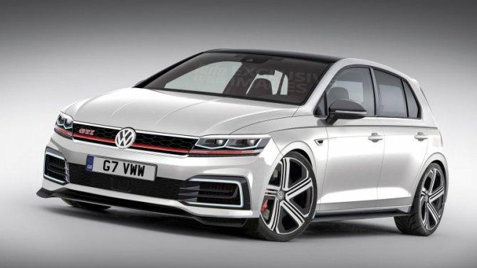 Появились первые изображения нового Volkswagen Golf GTI