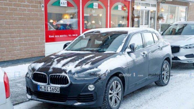 ВШвеции замечен электрокроссовер BMW iX2