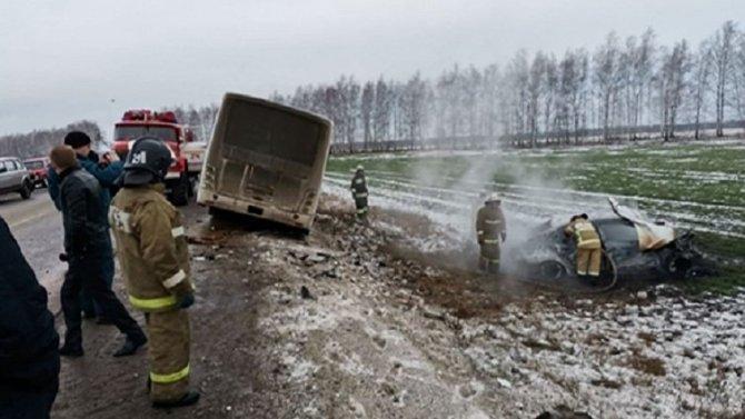 В ДТП с автобусом в Пензенской области погибла женщина