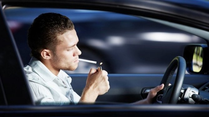 Курение зарулём приравняют квандализму