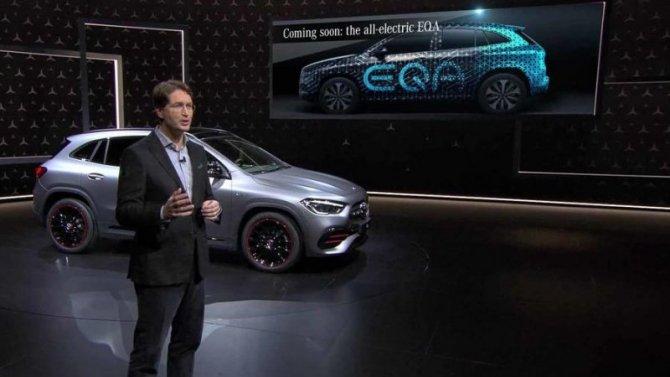 Электрокроссовер Mercedes-Benz EQA появится вследующем году