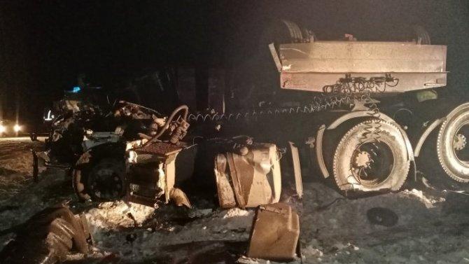 В ДТП с двумя грузовиками в Свердловской области погиб водитель