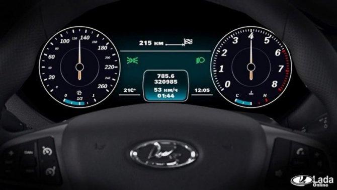 Весной Lada Vesta получит цифровые «приборки»