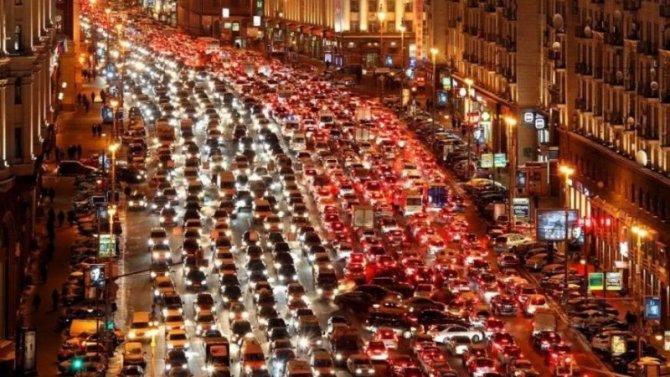 Москвичи стали меньше ездить наличных машинах