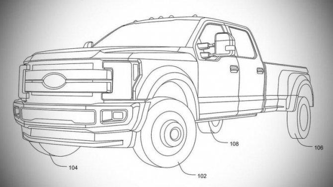 Запатентовано полноуправляемое шасси для пикапов Ford F-Series