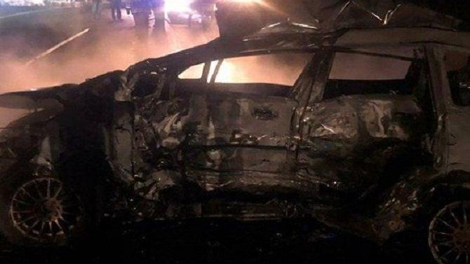 На Кубани после ДТП сгорела машина – водитель погиб