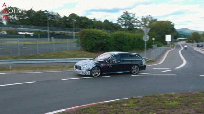 Наиспытания выехал новый Mercedes-AMG E63