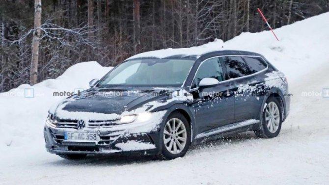 Натестах замечен новый универсал Volkswagen Arteon R