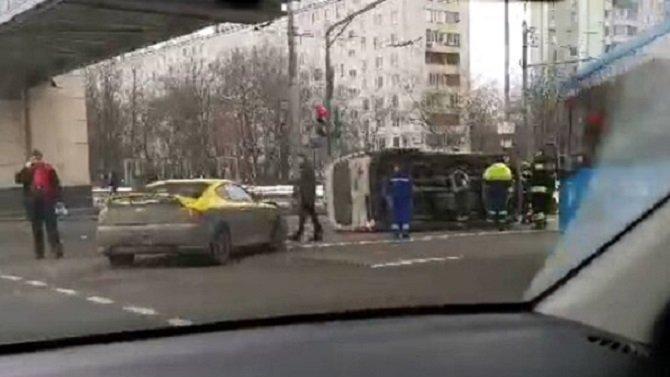 В Москве в ДТП попала «скорая»