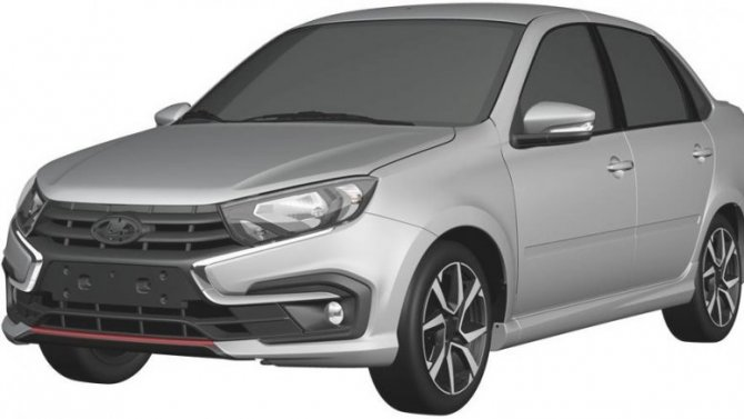 «АвтоВАЗ» запатентовал дизайн Lada Granta Sport