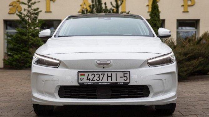 ВМинске представлен новый электромобиль Geely