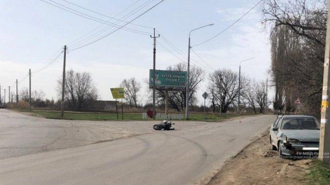 14-летний мотоциклист пострадал в ДТП под Волгоградом
