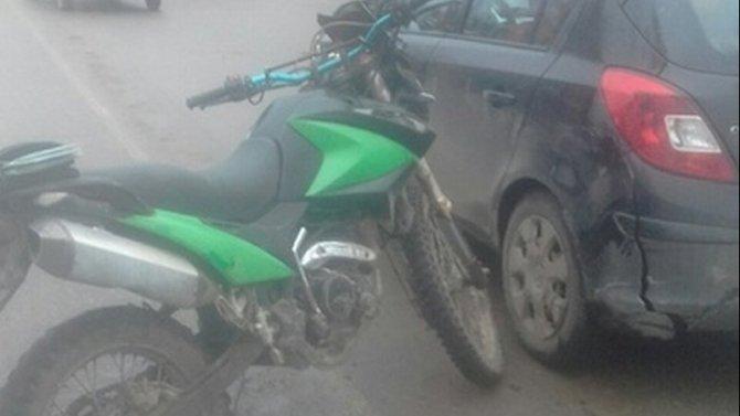 В Рославле в ДТП с мотоциклом пострадал подросток