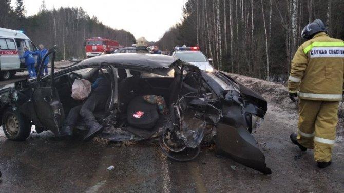 Под Котласом в ДТП пострадал водитель «Лады»