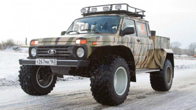 Lada 4×4 обзавелась модификацией особо высокой проходимости