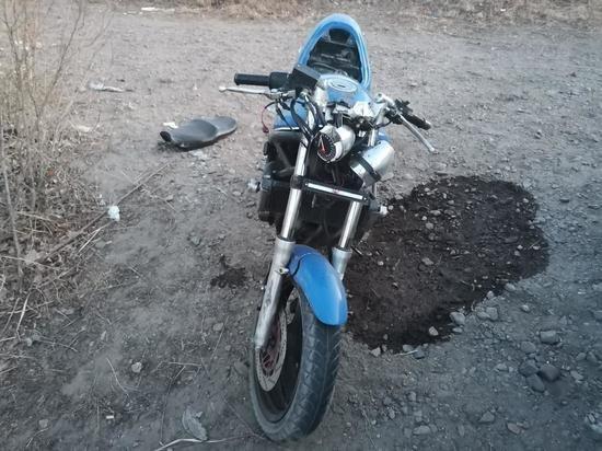 Мотоциклист пострадал в ДТП в Чите (2)