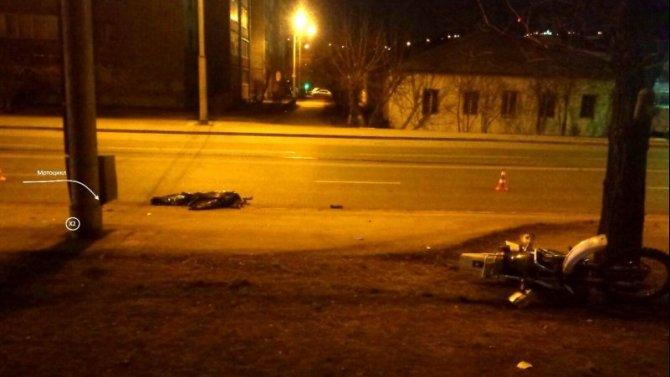 В Красноярске в ДТП погиб мотоциклист