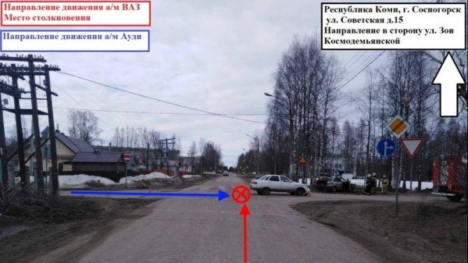 В ДТП в Сыктывкаре пострадала девушка