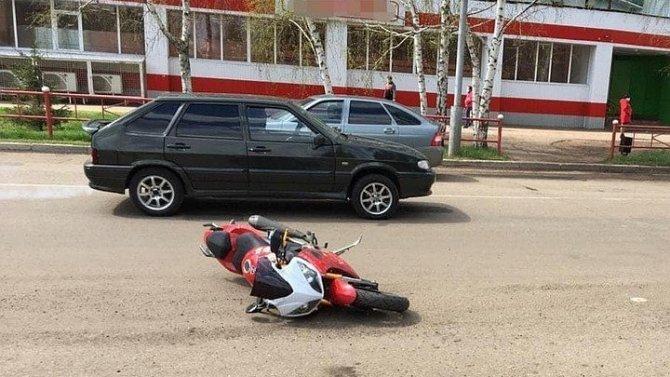 В Мелеузе «Нива» сбила мотоциклиста