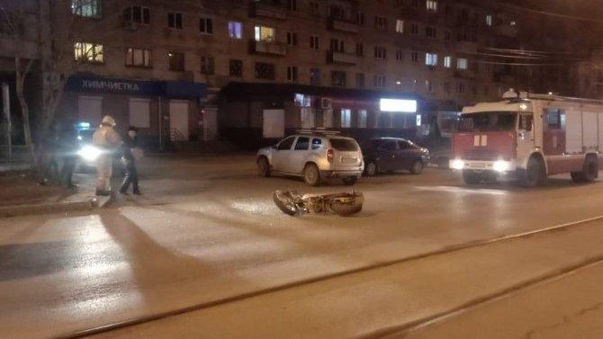 ВНижнем Тагиле водитель иномарки сбил мотоциклиста и скрылся